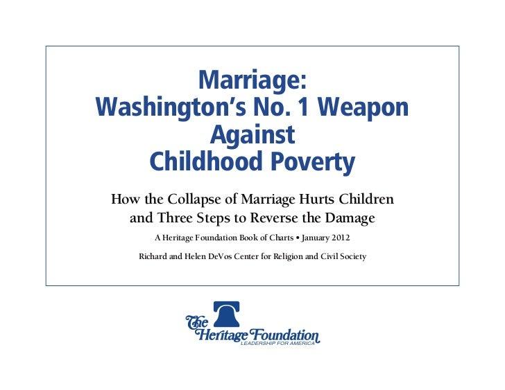 Marriage & Poverty: Washington