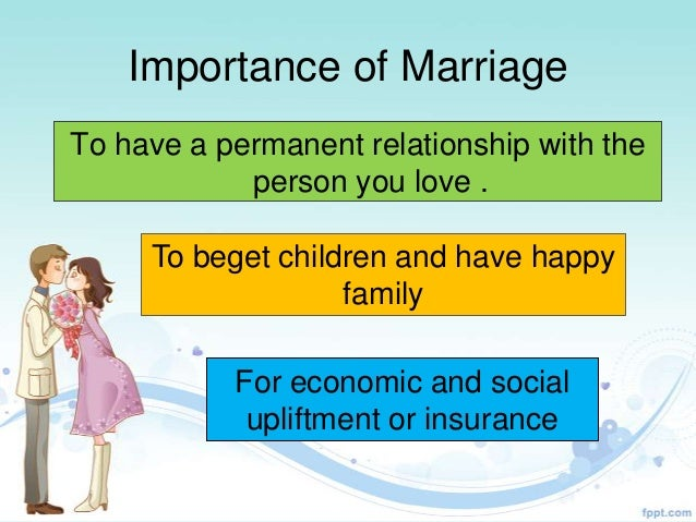 Marriage Ppt