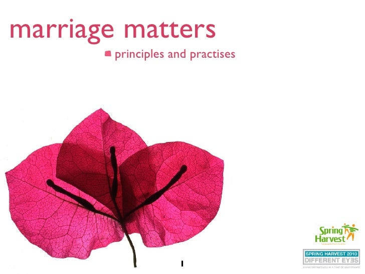marriage matters         principles and practises                         1
