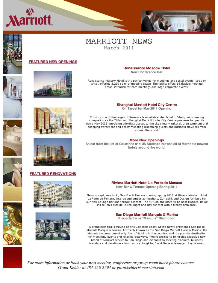 VOLUME 1                                MARRIOTT NEWS                                             March 2011FEATURED NEW O...