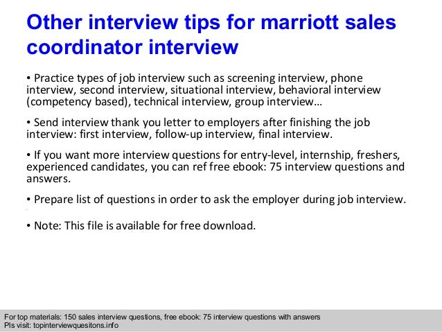 hotel sales coordinator job description marriott sales coordinator – Sales Job Description