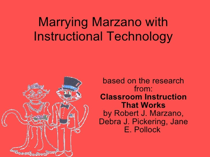 Marrying Marzano with Instructional Technology based on the research from: Classroom Instruction That Works by Robert J. M...