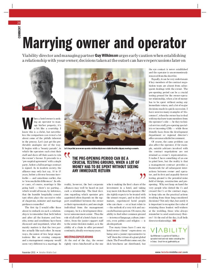 Marrying owner and operator