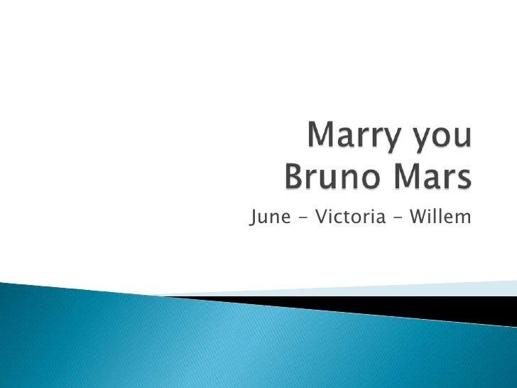 Marry you june vic en wiz
