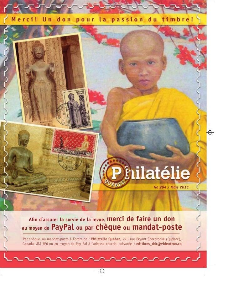 No 294 / Mars 2011   Afin d'assurer la survie de la revue,           merci de faire un donau moyen de      PayPal ou par ch...