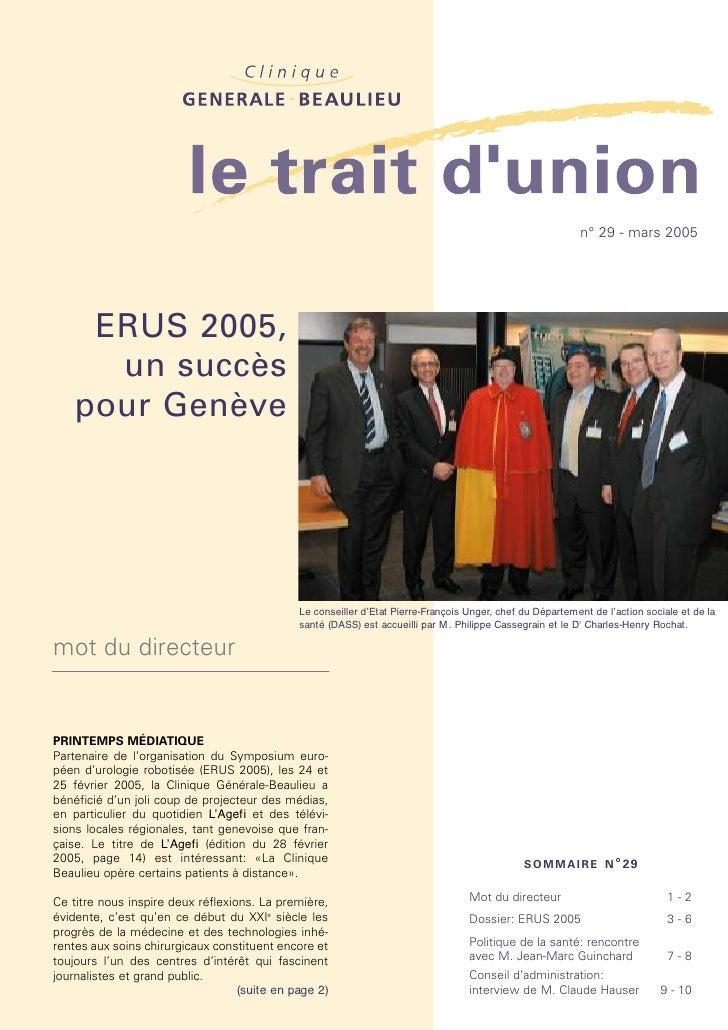ERUS 2005, symposium européen d'urologie robotisée