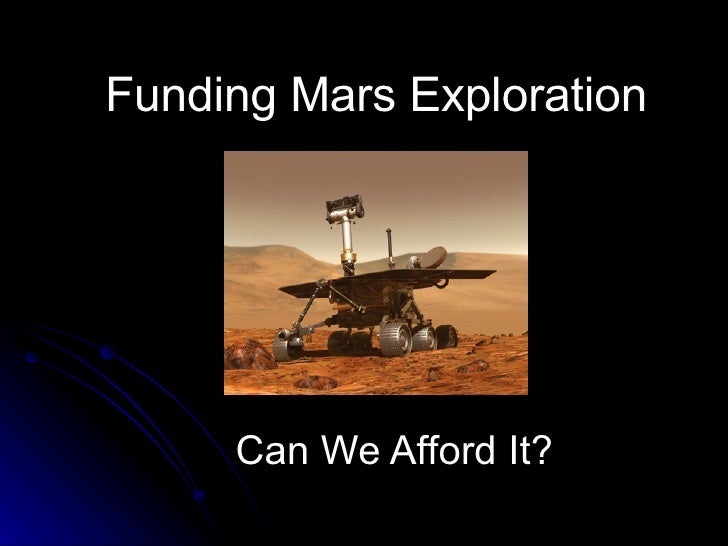 Mars Can We Afford It