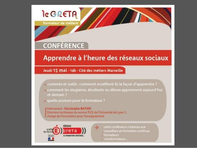 Marseille mai 2014 apprendre à lheuredesreseauxsociaux2014