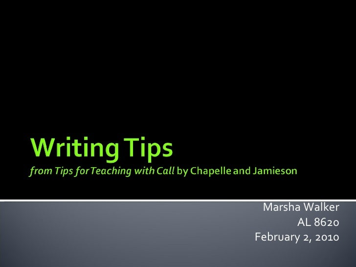 Marsha presentation writing
