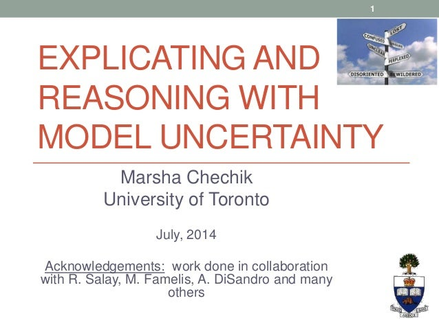 Explicating and Reasoning with Model Uncertainty by Marsha Chechik (ECMFA'14 Keynote)