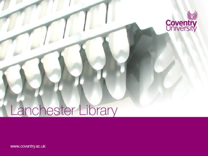 Services for International        Students – Review at Lanchester Library      Coventry University                        ...