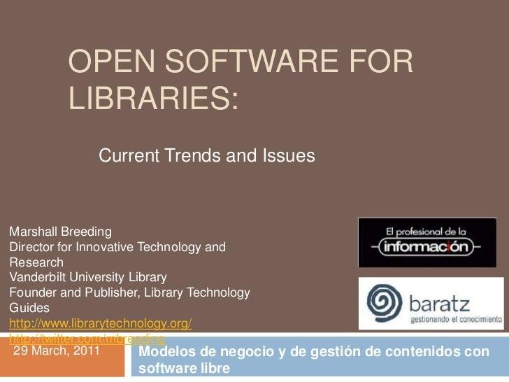 Marshall Breeding Jornada Software Libre Baratz-EPI