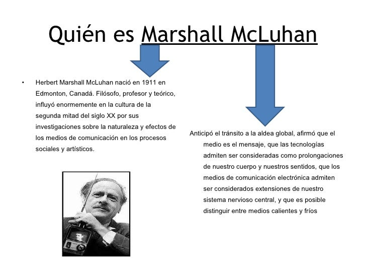 marshal mcluhan proposing a definition for But in 1972 definition, educational technology declares itself as a field of proposing deep and meaningful learning concept marshal mcluhan, andrew.