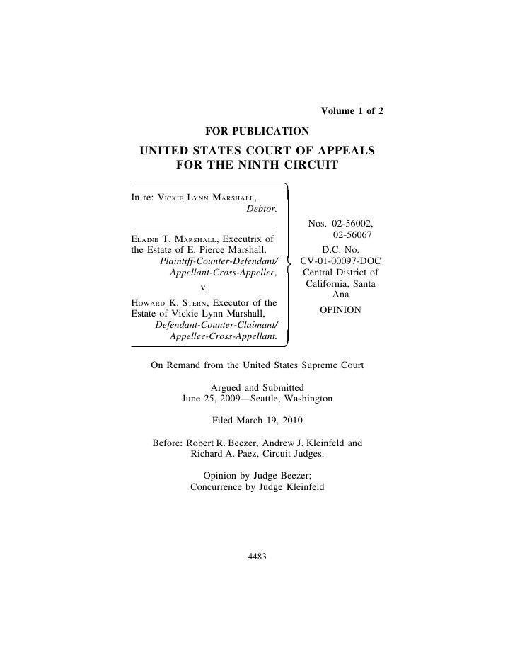 Volume 1 of 2                   FOR PUBLICATION  UNITED STATES COURT OF APPEALS       FOR THE NINTH CIRCUIT  In re: VICKIE...