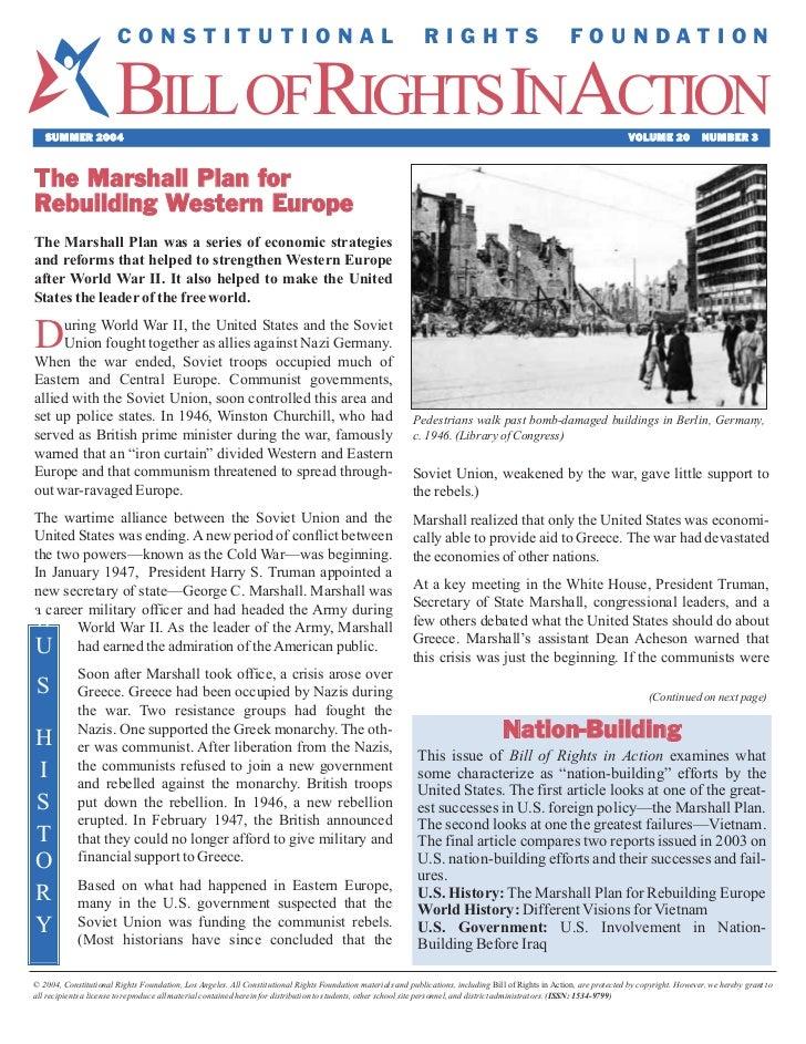 Marshall Plan Article