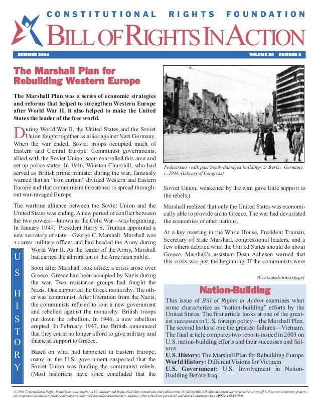 Marshall Plan for Rebuilding Europe