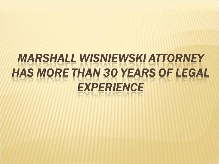 Marshall Wisniewski Attorney