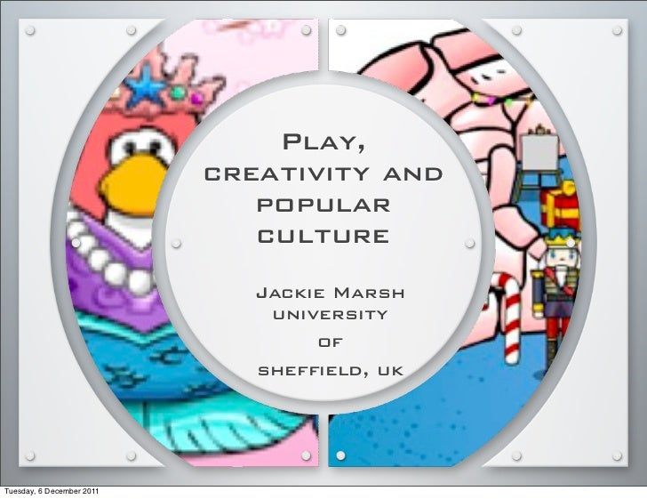 Play, Creativity and Popular Culture