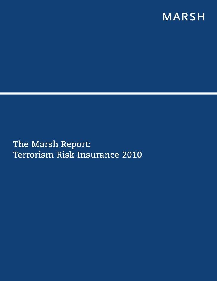 The Marsh Report-Terrorism Risk Insurance 2010