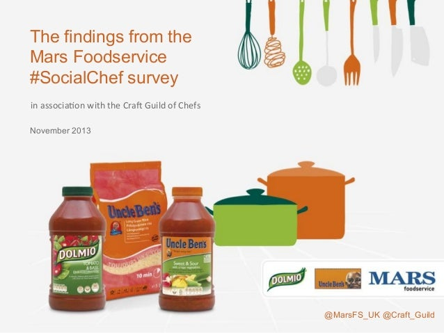 The findings from the Mars Foodservice #SocialChef survey November 2013 @MarsFS_UK @Craft_Guild in  associa(on  with ...