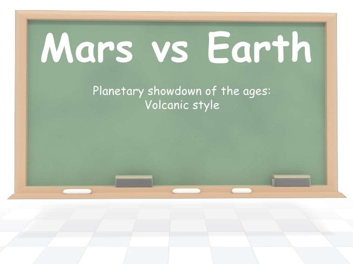Mars vs Earth  Planetary showdown of the ages:           Volcanic style
