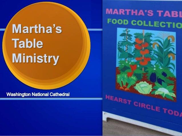 Martha's Table Ministry Washington National Cathedral