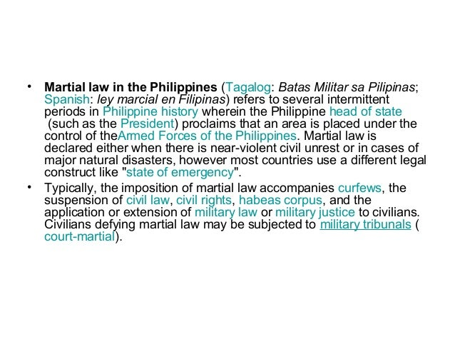 martial law in the philippines