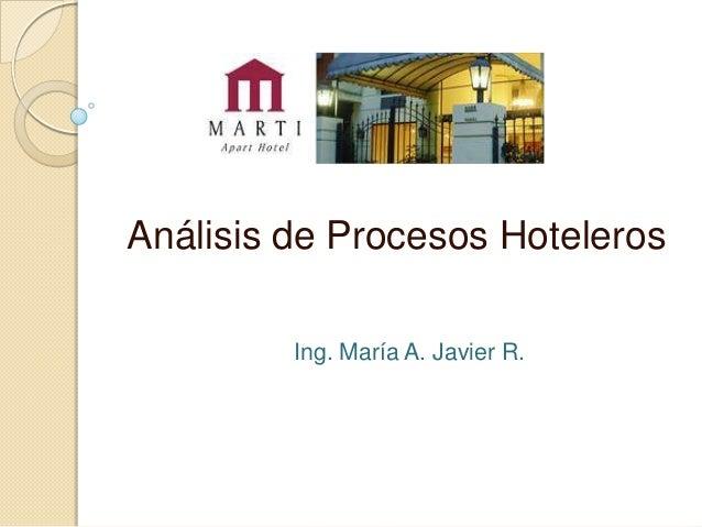 Marti Apart Hotel - Análisis de Procesos Hoteleros