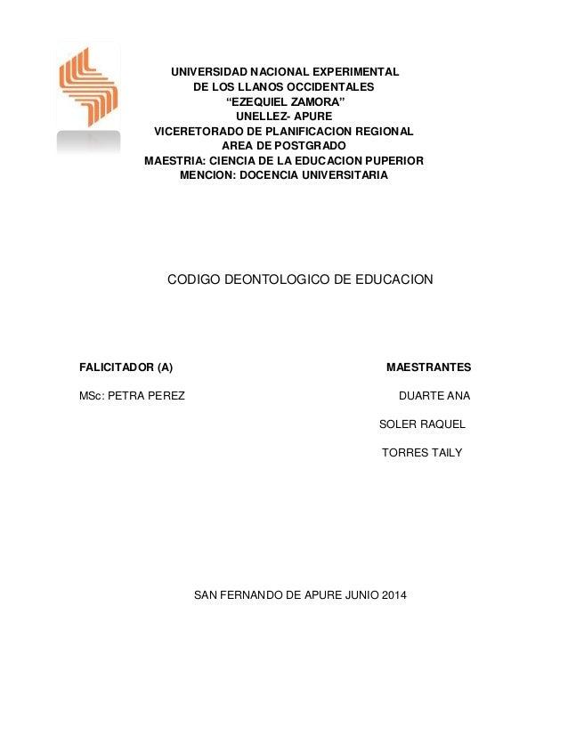 """UNIVERSIDAD NACIONAL EXPERIMENTAL DE LOS LLANOS OCCIDENTALES """"EZEQUIEL ZAMORA"""" UNELLEZ- APURE VICERETORADO DE PLANIFICACIO..."""