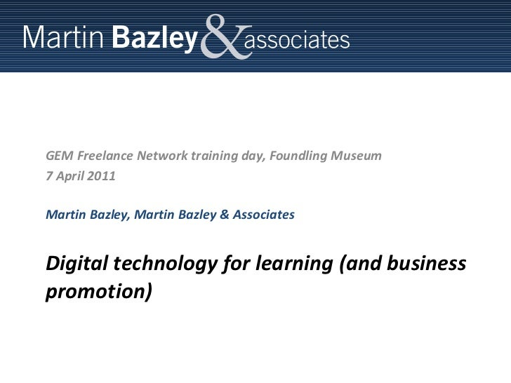 Martin Bazley - using simple technologies with different audiences (reduced for uploading)