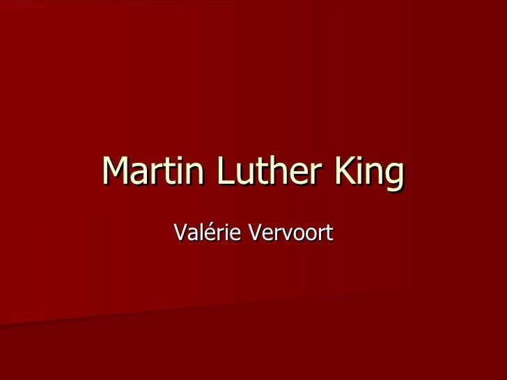 Martin Luther King Valérie Vervoort