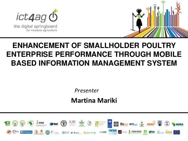 Enhancement of smallholder poultry enterprise performance through mobile based information management system
