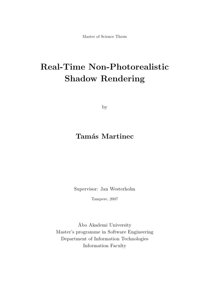 Real-Time Non-Photorealistic Shadow Rendering