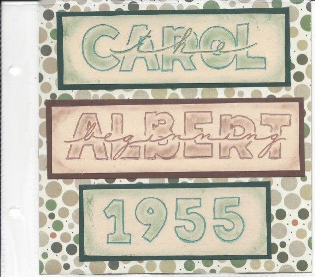 Albert & Carol Martinez, Memory Book No. 1