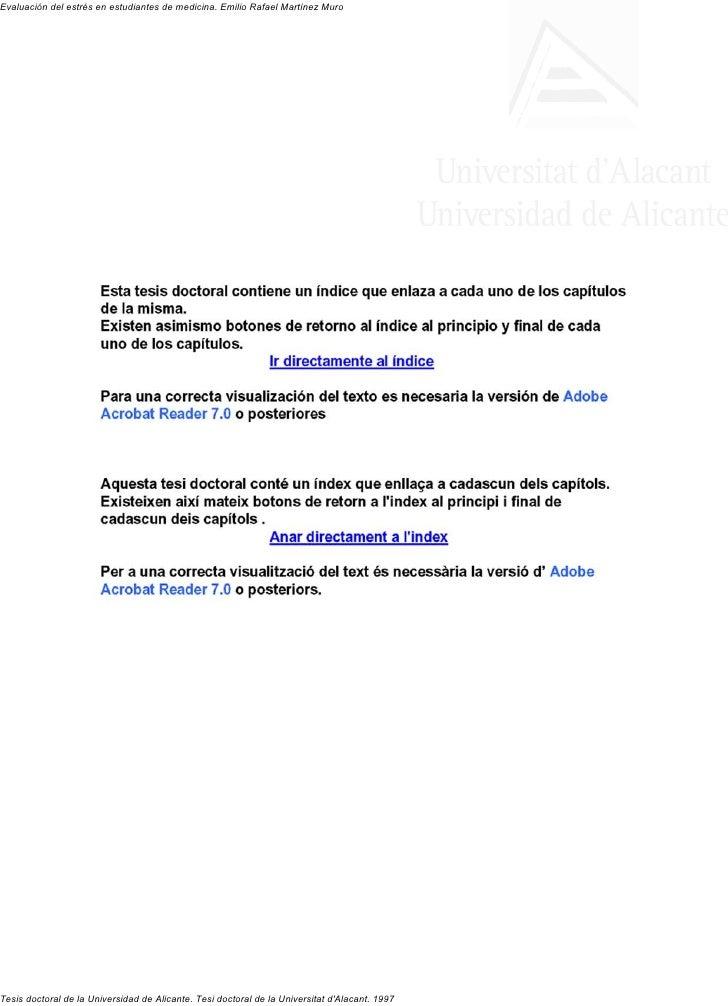 Martinez e 1997   tesis evaluacion del estres en estudiantes de medicina u esp