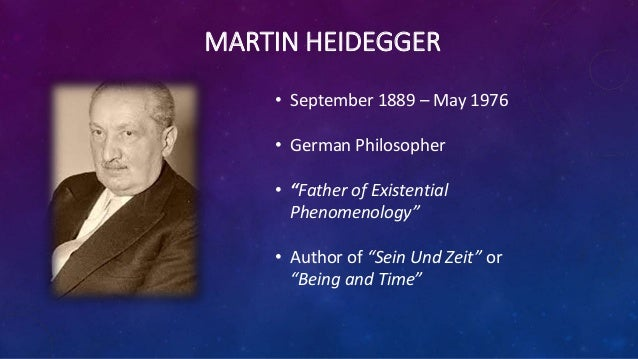 essay what is philosophy by martin heidegger