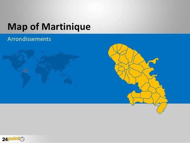 Map of Martinique Arrondissements