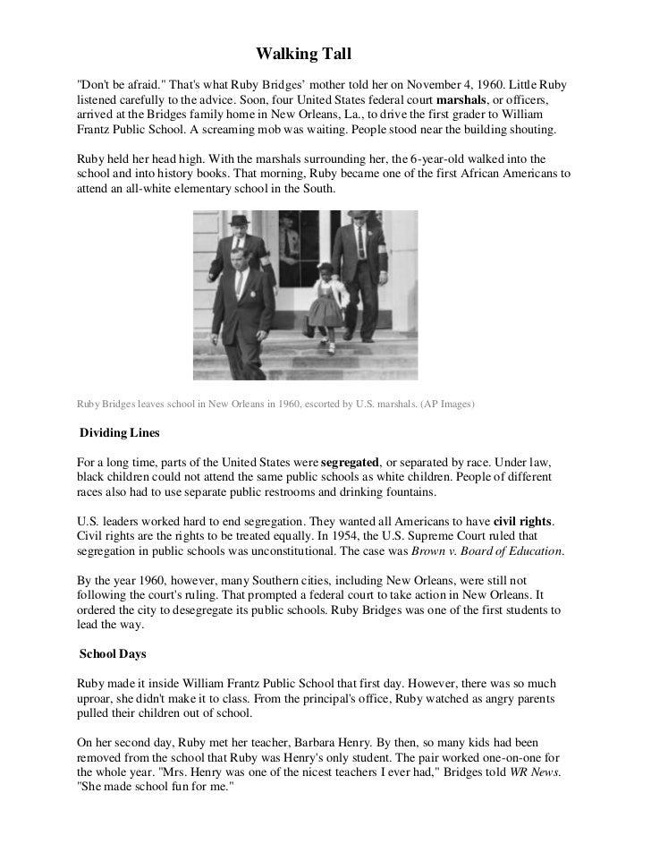 Martin l. king black history ruby bridges