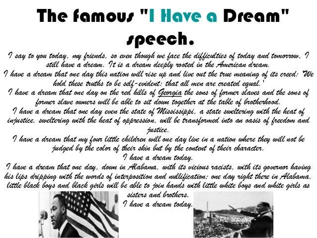 I have a dream speech date