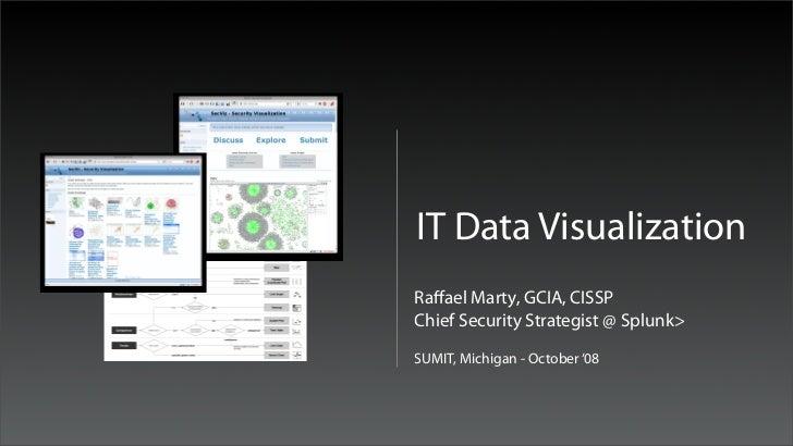 IT Data VisualizationRaffael Marty, GCIA, CISSPChief Security Strategist @ Splunk>SUMIT, Michigan - October '08