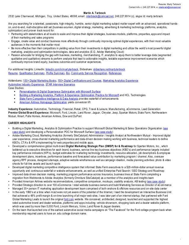 Marty Terbrack Analytics: MIT, Data Scientist, Python, R, REST, SOA, JSON, XML, JQUERY, Adobe Analytics (formerly, Omnitur...