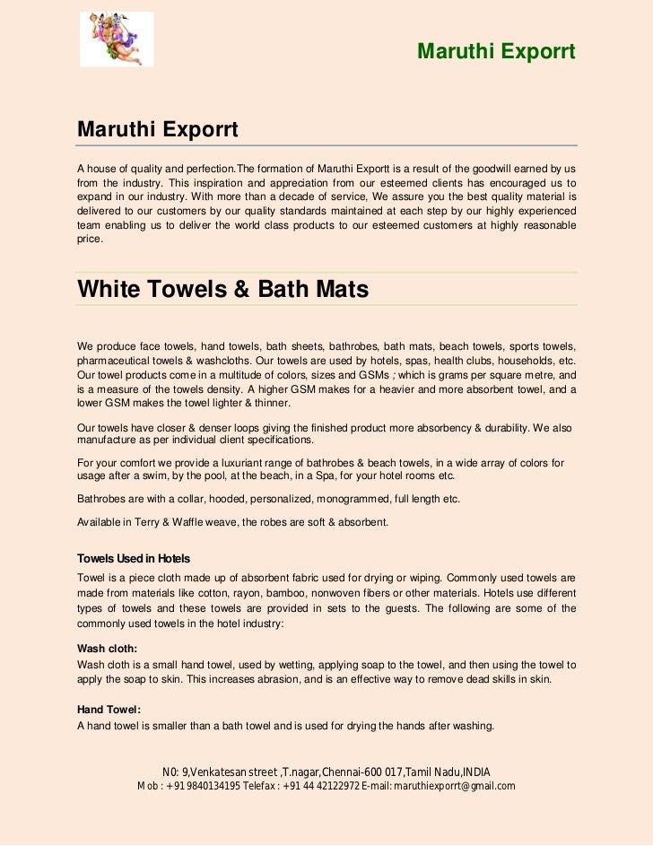 Maruthi ExporrtMaruthi ExporrtA house of quality and perfection.The formation of Maruthi Exportt is a result of the goodwi...