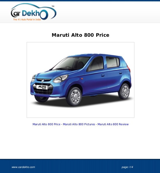 Maruti Alto 800 Price 16Oct2012
