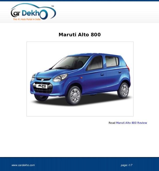 Maruti Alto 800                                     Read Maruti Alto 800 Reviewwww.cardekho.com                           ...