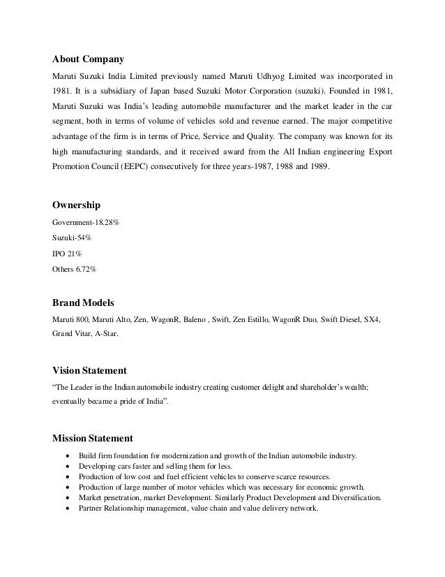 maruti suzuki india ltd swot analysis View maruti_suzuki_india_ltd_swot_analysis_bac from mng 3701 at university of south africa maruti suzuki india ltd fundamental company report including financial, swot, competitors and industry.