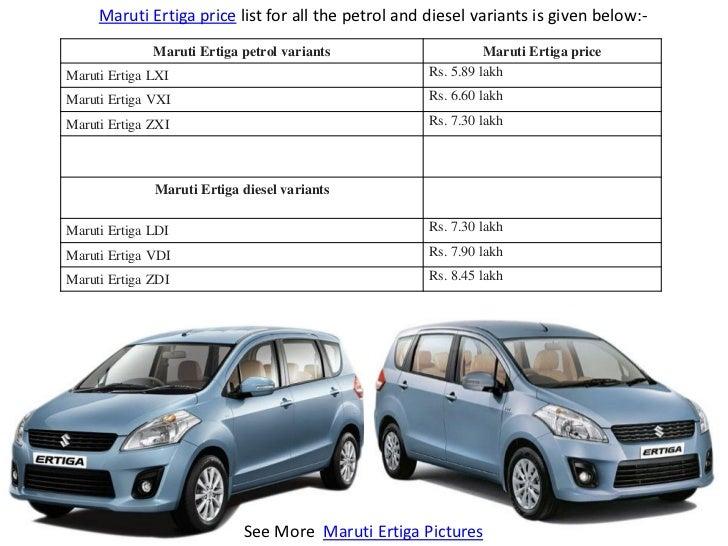 Maruti Suzuki Cars Price in India New Car Models 2018