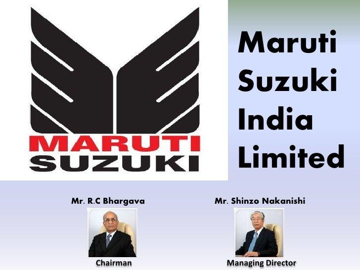 Maruti                        Suzuki                        India                        Limited Mr. R.C Bhargava   Mr. Sh...