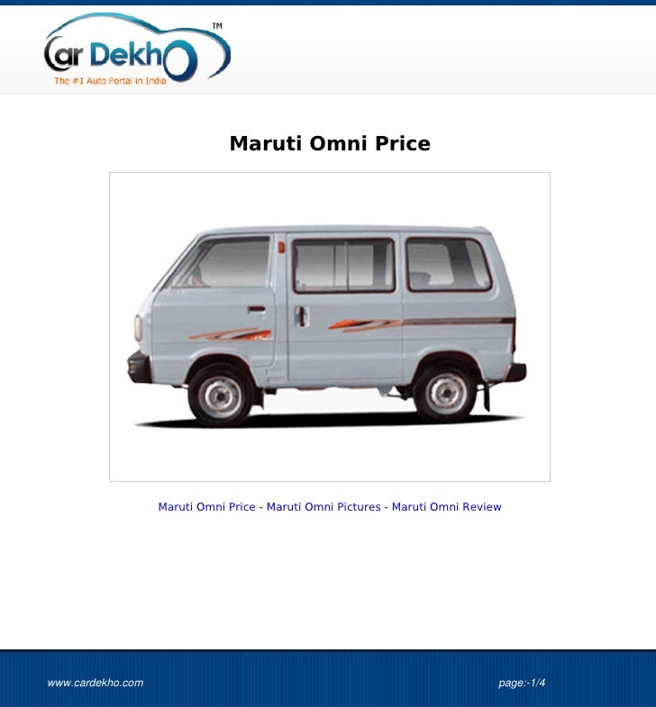 Maruti Omni Price                   Maruti Omni Price - Maruti Omni Pictures - Maruti Omni Reviewwww.cardekho.com         ...