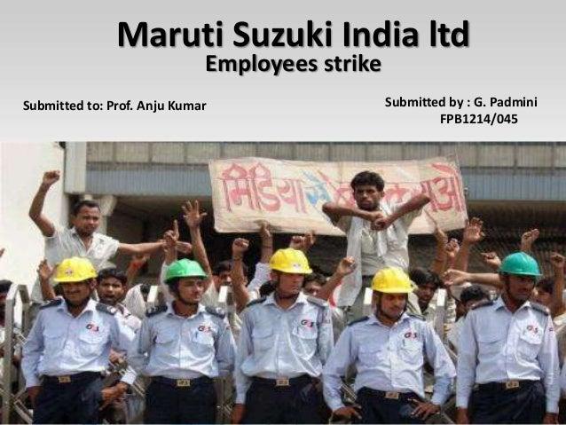 Maruti Suzuki Labour Unrest Case Study
