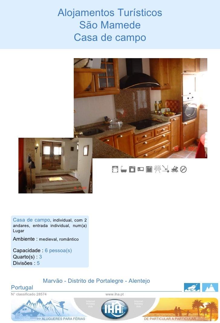 Alojamentos Turísticos                                   São Mamede                                 Casa de campo         ...